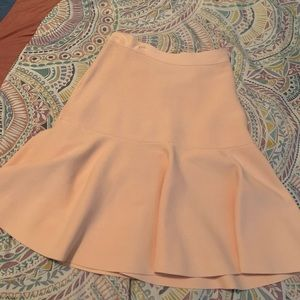 NEW* BCBG high waisted skater skirt. Blush.